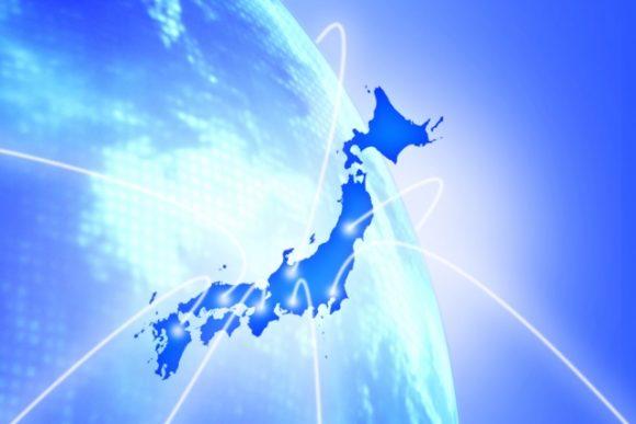 日本地図と地球