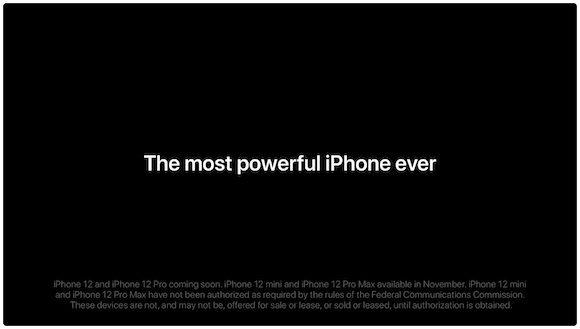Apple iPhone12 Pro 「The most powerful iPhone ever」
