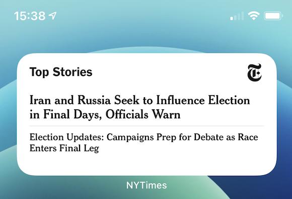 New york times widget 2