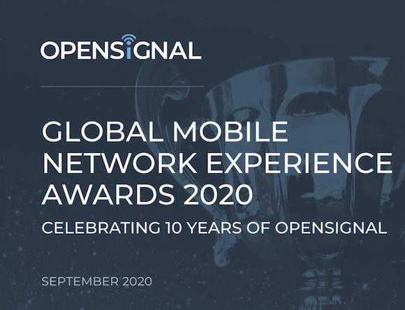 Opensignal 世界通信事業者評価 2020年9月