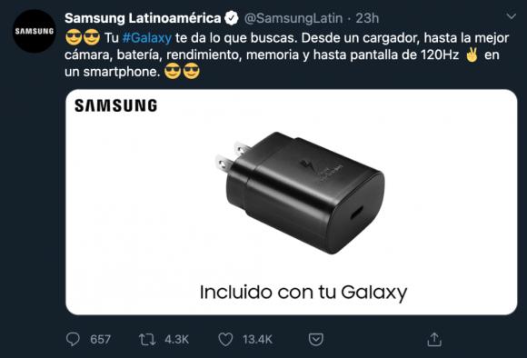 Samsung Latin America Twitter
