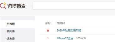 中国 微博 トレンド iphone12