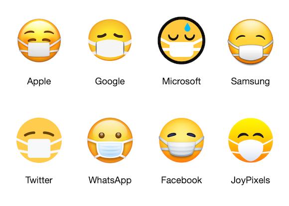 マスクをつけた顔 絵文字 比較 Emojipedia