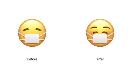 iOS14.2 マスク 絵文字 Emojipedia