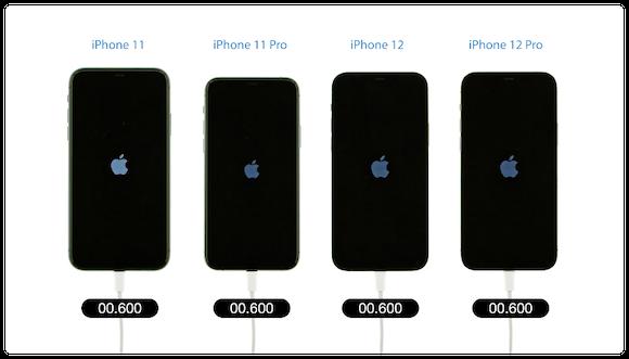 iPhone12 起動速度比較