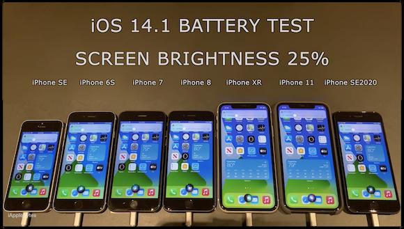 iOS14.1 GM バッテリーテスト