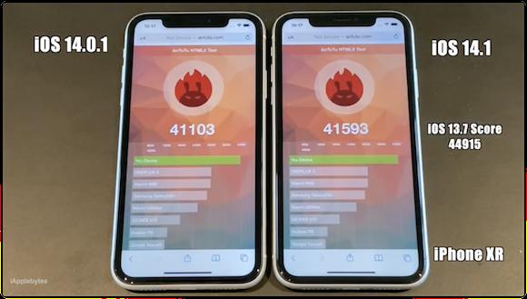 iOS14.1GM スピードテスト