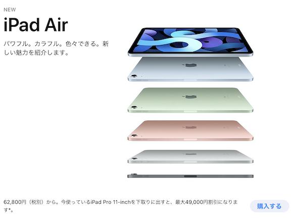 iPad Air 4 order1