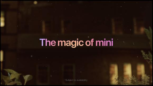 Apple CM「The magic of mini」