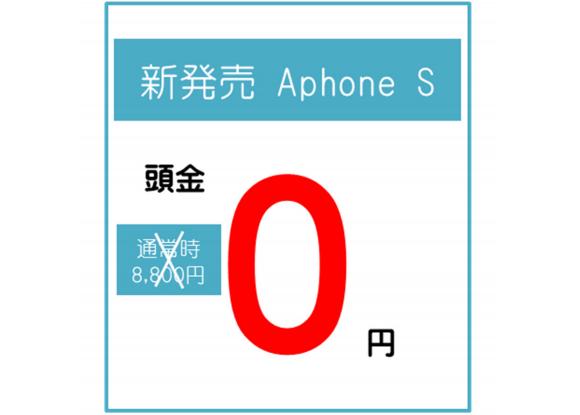 「頭金0円」の訴求イメージ