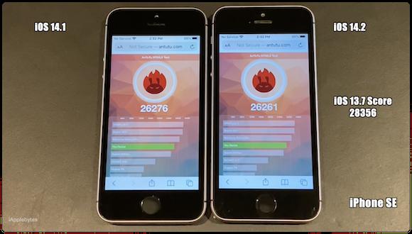 iOS14.2 RC 動作速度テスト