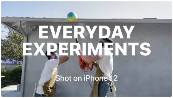 Shot on iPhone 12 — Everyday Experiments. Get creative at home.