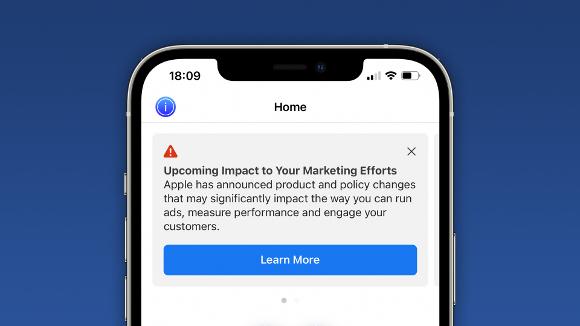 facebook apple 忠告 バナー