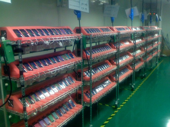 iPhone assembly line