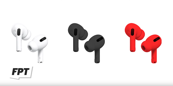 AirPods black and red