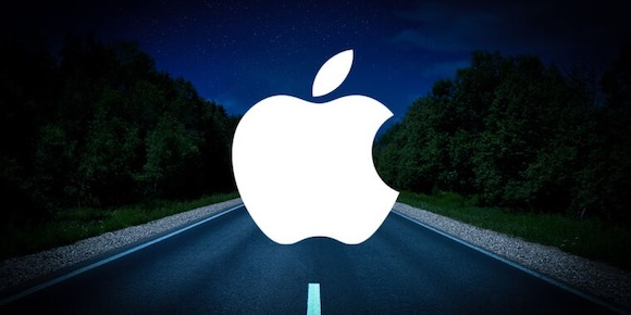 Apple Car on the road