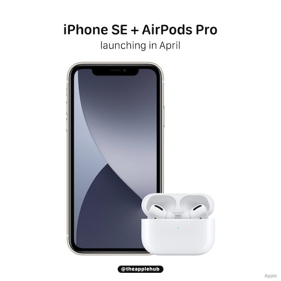 iPhone SE and AirPods Pro