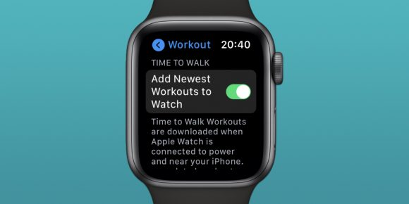 Apple WatchのTime to Walk機能の画像